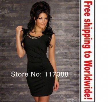 Black Seductive Sexy Mini Dress+ Free shipping to worldwide!