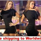 Black Sexy Dress Satin Babydoll with zipper + Free shipping to worldwide!