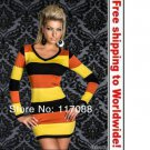 Hot Colored Strips Mini dress + Free shipping to worldwide!