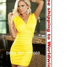 Deep V girls party dress + Free shipping to worldwide!