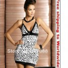 Zebra chemise babydoll Obsessive fashion evening dress+ Free shipping to worldwide!