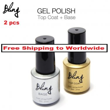 2 pcs Nail UV Gel Polish Base and Top Coat al