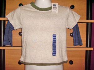 CW55: 12-18mos Baby Gap 2 Layered Long Sleeve Tee