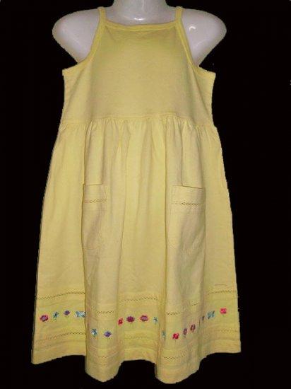 CW125: 6-7T J Khaki Kids S/Less Dress