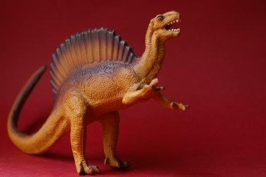 Spinosaurus by Salvat Editores 2001 rubber dinosaur from Spain. Dinosaurio