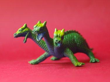 Vintage Three-headed dragon 80's monster