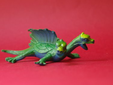 Vintage Two-headed turtle dragon 80's monster
