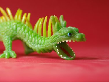 Chinese soft rubber dragon big vintage figure 80's jiggler