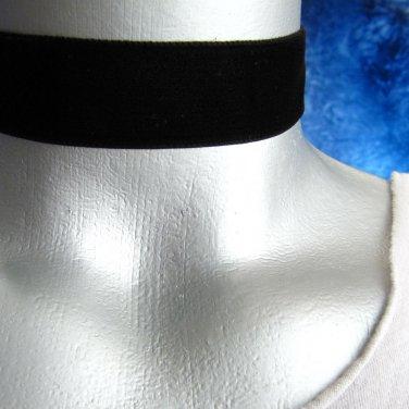 Adjustable Black Velvet Ribbon Choker Necklace -- Hand Made in USA