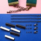 Ribbon Clamps Kit - Make Bracelets, Chokers, Necklaces, Jewelry with Ribbon