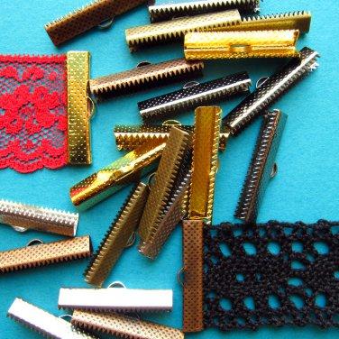 30-40mm 144 pcs. Ribbon Clamps Ribbon Crimp Ends Shipped from USA -- Wholesale