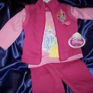 DISNEY PRINCESSES 3pc Fleece Pant Set  Size 2T NWT