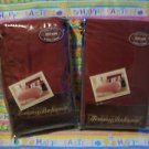 (2) Tommy Bahama Hopetown Crimson European Shams  NIP