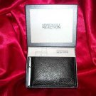 Kenneth Cole Reaction Men&#39;s Passcase Black Leather Wallet  NIB