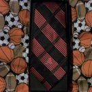 ARIZONA DIAMONDBACKS WOVEN PLAID MENS  NECK TIE NIP BLACK  RED  LOGO