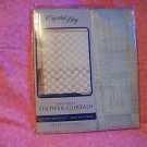 "CRYSTALBAY 100% VINYL SHOWER CURTAIN  SEASHELLS WHITE 70"" X 72"" NIP"