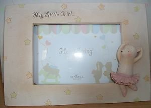 HEART STRING TEDDIES MY LITTLE GIRL PICTURE FRAME SEAGULL STUDIOS 5  X 3.5  NIB