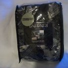 1 Tahari Home Black and Grey Standard Sham  100% Cotton NIP