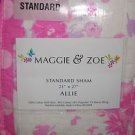 "1 MAGGIE & ZOE ""ALLIE"" STANDARD SHAM Floral Print New in Package"