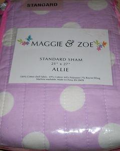 "1 MAGGIE & ZOE ""ALLIE"" STANDARD SHAM w/ Polka Dots New in Package"