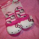 HELLO KITTY PINK WHITE SLIPPERS SIZE 5-6 S  NWT