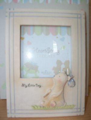 HEART STRING TEDDIES MY LITTLE BOY PICTURE FRAME SEAGULL STUDIOS 3.5 X 3.5  NIB