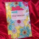 BRIGHT IDEAS BRIGHT COLORED FLORAL VINYL OBLONG TABLECLOTH INDOOR/OUTDOOR NIP