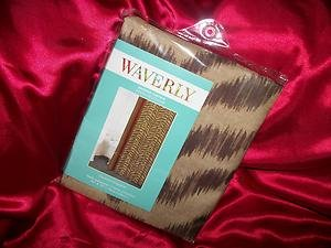 WAVERLY COUTURE KINGDOM SHOWER CURTAIN.GOLD BROWN ZEBRA DESIGN70 IN X 72 IN NIP