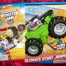 HOT WHEELS MONSTER JAM GRAVE DIGGER ULTIMATE STUNT JUMPER VEHICLE NIB