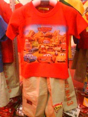 Set shirt and pants by Cars pixar- Brand new with tags (KS013)
