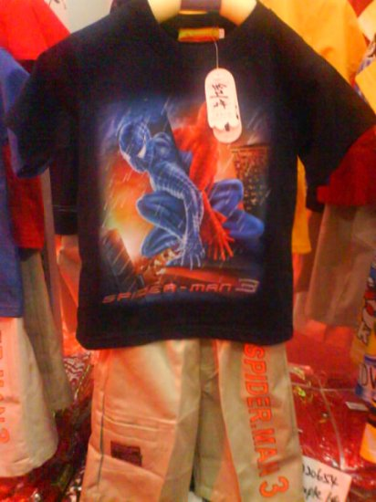 Spiderman set, shirt and bermuda pants - Brand New (KS029)