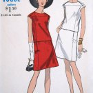 Vintage 1960's MOD 2 Piece Dress Sewing Pattern Top & Skirt Vogue 7162 Size 14 Bust 34 UNCUT