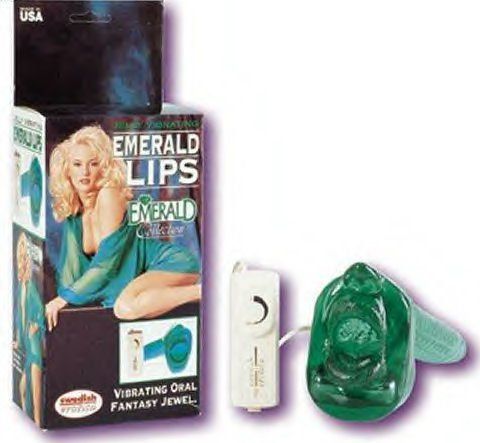 Emerald Lips Vibrating Jelly Oral Pleaser