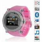 S60 Quad Band Dual active SIM Watch phone pink