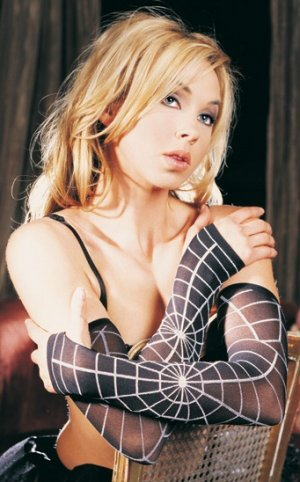 Opaque Spider Web Design Arm Warmer