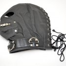Mens Faux Leather Gimp Mask Fetish Hood