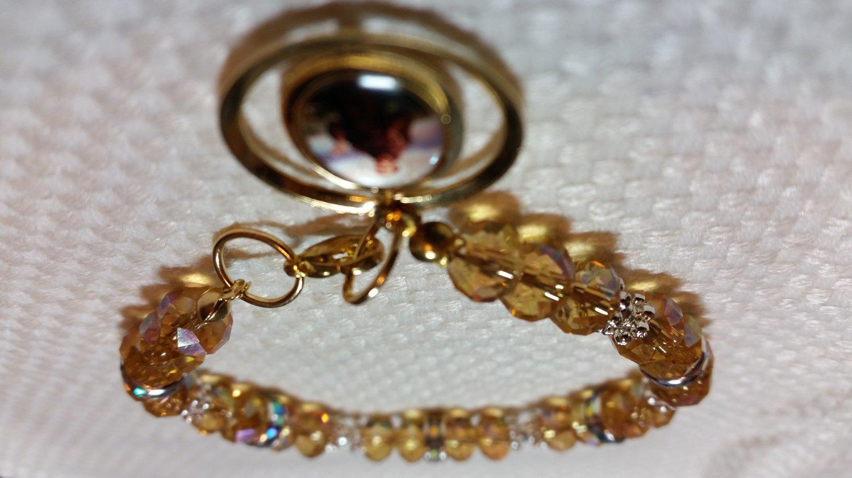 Gold Tone Rosary Bracelet