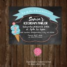 Custom Invites Ice Cream Party