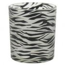 Zebra Pattern Votive Candle Holder