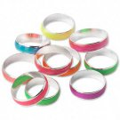 Glow-in-the-dark rings, multiple colors, size 8