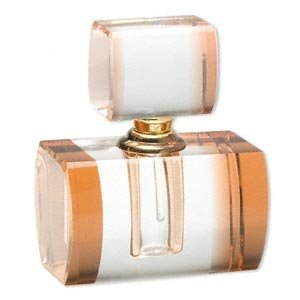 Peach and Clear Glass Perfume Bottle
