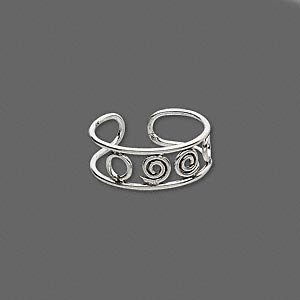 Sterling Silver Circles Toe Ring