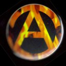 Flaming Anarchy pinback button bade 1.25""