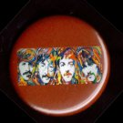 Psychedelic Beatles pinback button badge 1.25""