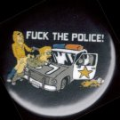 """FUCK THE POLICE!""  Spilled Coffee  pinback button badge 1.25"""
