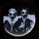 Gas Mask #1 - American Gothic  pinback button badge 1.25""