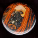 Gas Mask #3  pinback button badge 1.25""