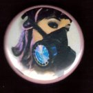 Gas Mask #8  pinback button badge