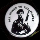 HUEY P NEWTON - ALL POWER TO THE PEOPLE pinback button badge 1.25""