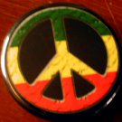 RASTA PEACE SIGN pinback button badge 1.25""